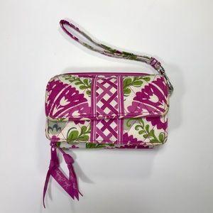 Vera Bradley Pink Crossbody Double Zipper Wallet